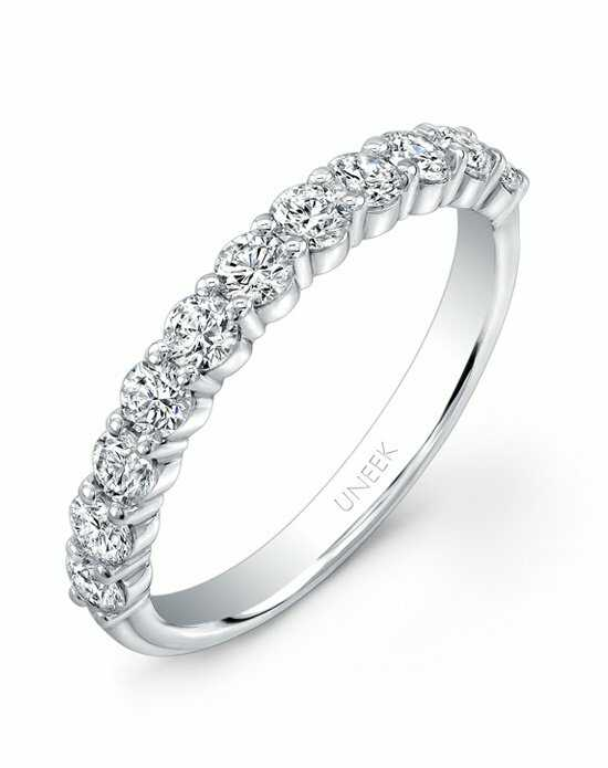 Uneek Fine Jewelry UWB06 White Gold,Gold Wedding Ring