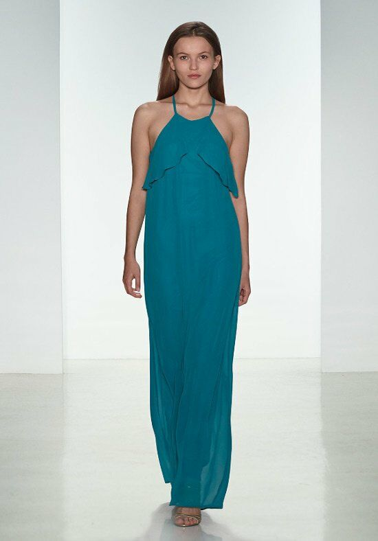 Nouvelle Amsale Bridesmaids N306 Halter Bridesmaid Dress