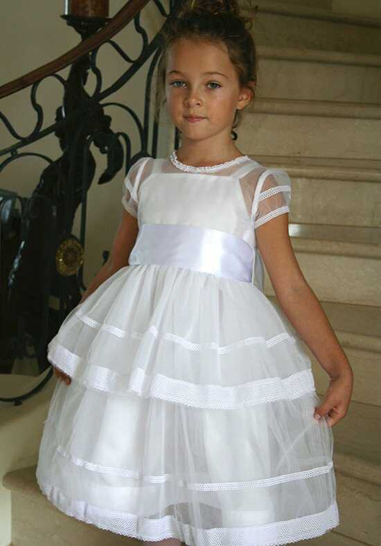 Isabel Garretón Magic White Flower Girl Dress