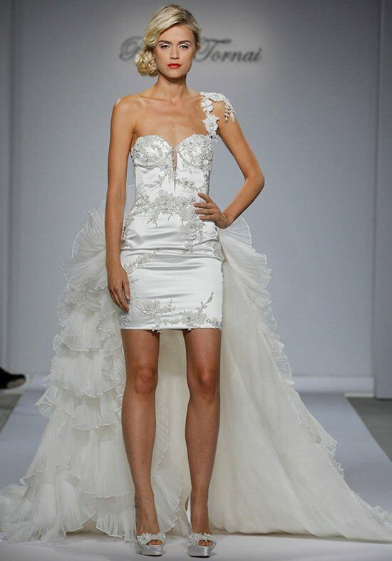 Pnina Tornai for Kleinfeld 4357 Sheath Wedding Dress