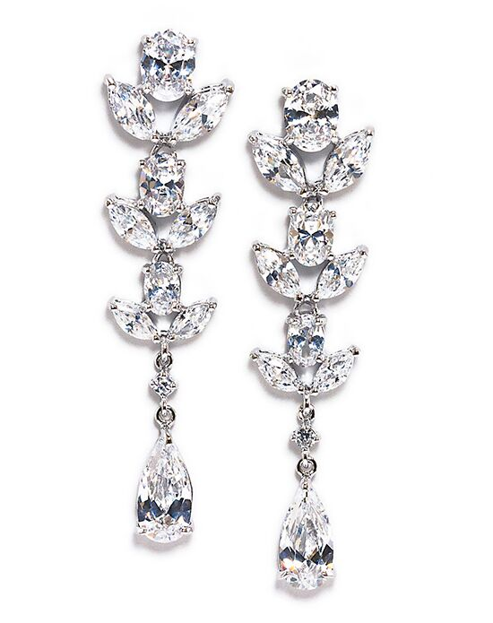 Anna Bellagio CAMBRIA FLORAL CUBIC ZIRCONIA EARRING Wedding Earring photo