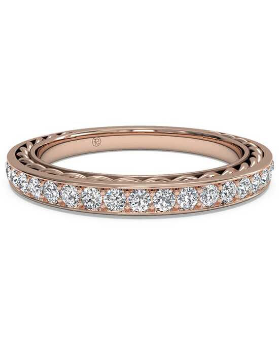 Ritani Women's Micropave Diamond Braided Wedding Ring - in 18kt Rose Gold - (0.32 CTW) Rose Gold Wedding Ring