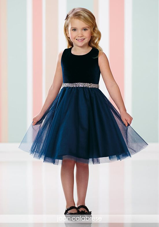 Joan Calabrese by Mon Cheri 216320 Black Flower Girl Dress