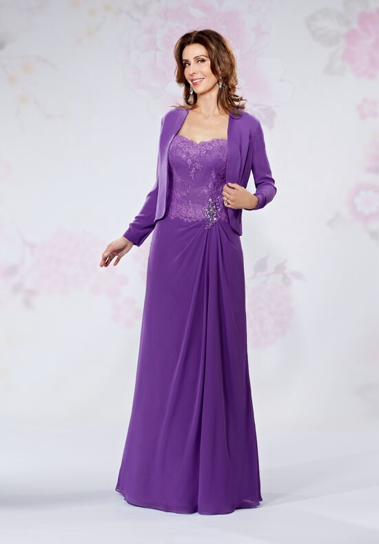 Beautiful Mothers by Mary's M2722 Purple Mother Of The Bride Dress