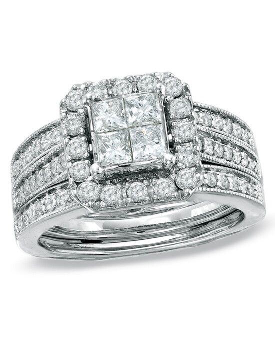 zales princess cut engagement ring - Zales Wedding Rings Sets