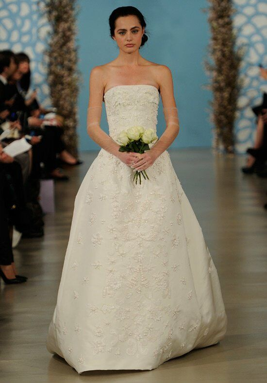 Oscar de la Renta Bridal 2014 Look 26 A-Line Wedding Dress