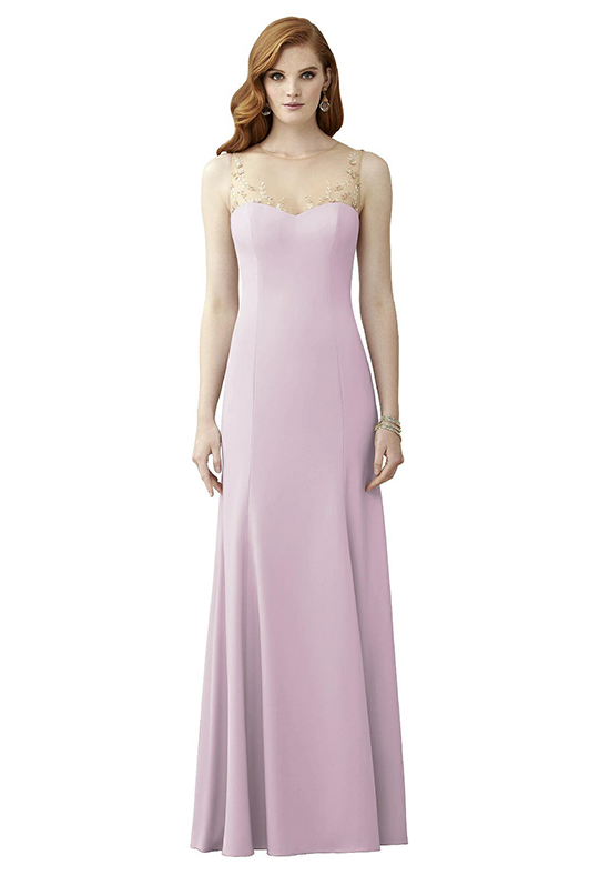 Dessy Collection 2964 Illusion Bridesmaid Dress