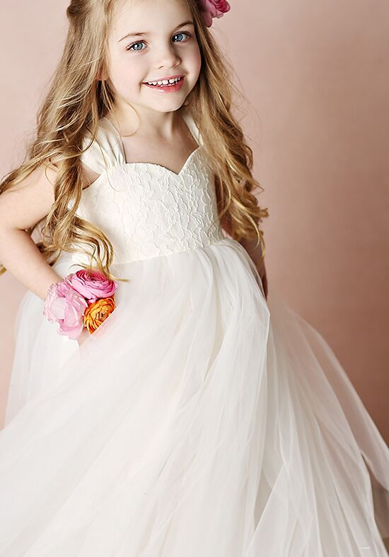 FATTIEPIE Olivia Ivory Flower Girl Dress