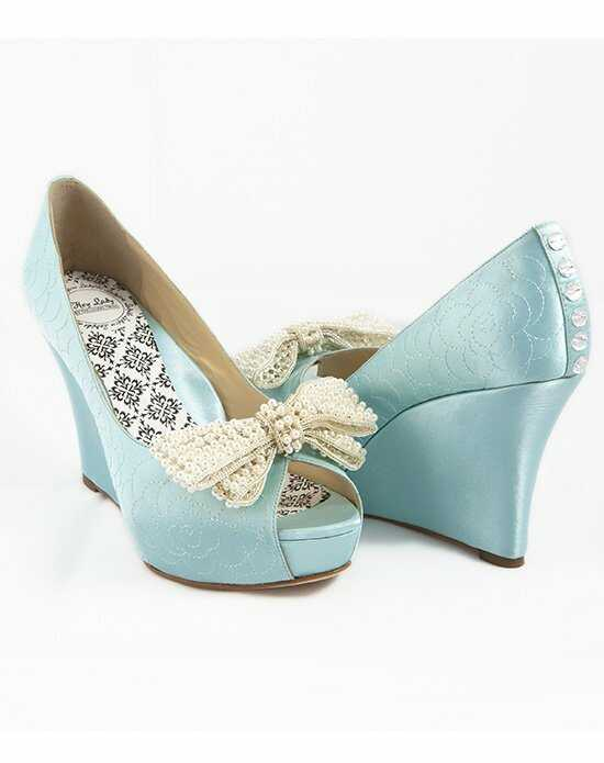 Hey Lady Shoes Lady Buttons garden wedge w/big pearl bow Shoe