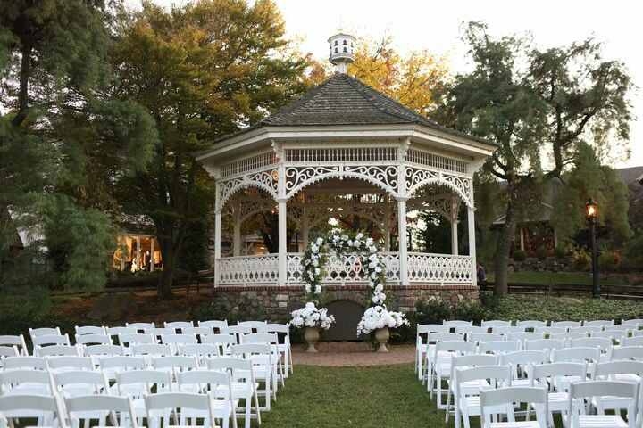 Weather Permitting We Intend On Our Ceremony Being Outdoors The Lawn In Front Of Gazebo At Peddler S Village With Guests Then Proceeding A Short
