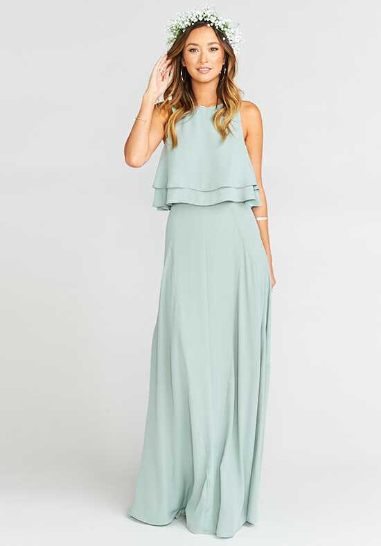 Show Me Your Mumu Princess Di Ballgown - Silver Sage Crisp Square Bridesmaid Dress