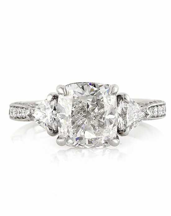 Mark Broumand Vintage Cushion Cut Engagement Ring