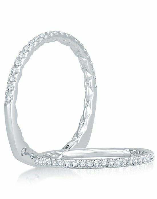 A.JAFFE MRS742Q White Gold Wedding Ring