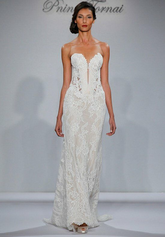 Pnina tornai for kleinfeld 4348 wedding dress the knot for Pnina tornai wedding dresses prices