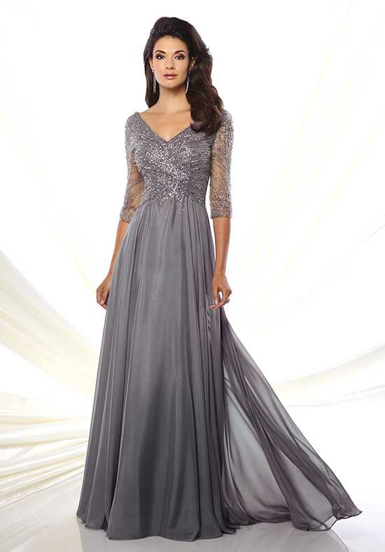 Montage by Mon Cheri 116950 Grey Mother Of The Bride Dress
