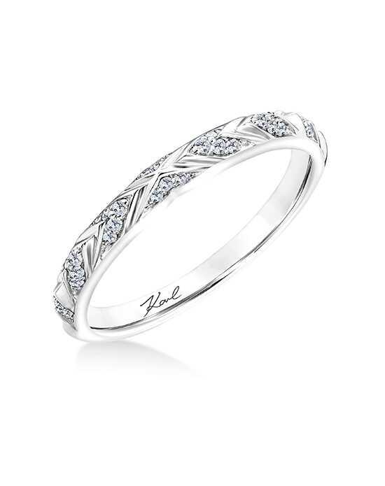 KARL LAGERFELD 31 KA106 L Platinum Wedding Ring