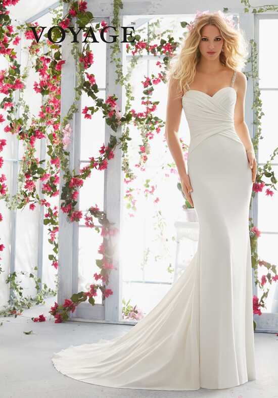 Morilee by Madeline Gardner/Voyage 6815 Sheath Wedding Dress