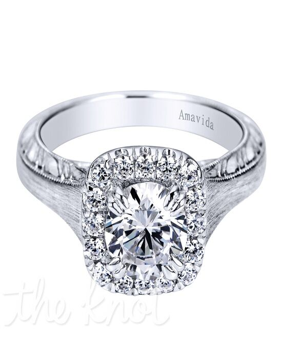 Amavida by Gabriel & Co. YW-ER9119D3 White Gold Wedding Ring