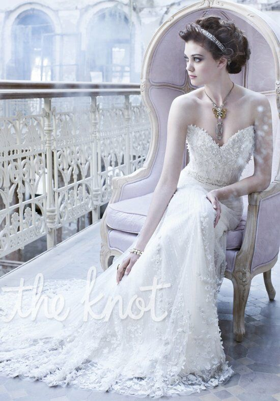 lazaro 3261 a line wedding dress