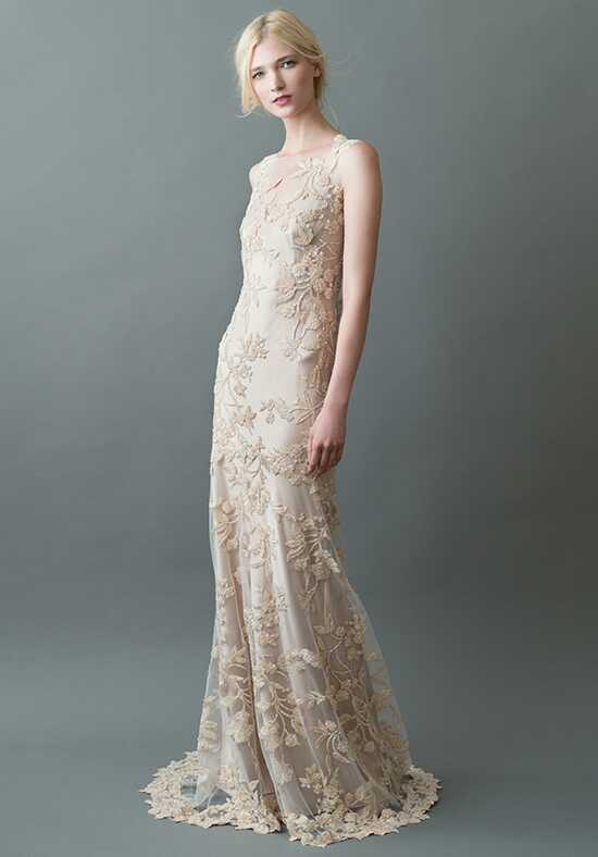 Jenny Yoo Collection Sakura {Champagne/Nude} #1760B Sheath Wedding Dress