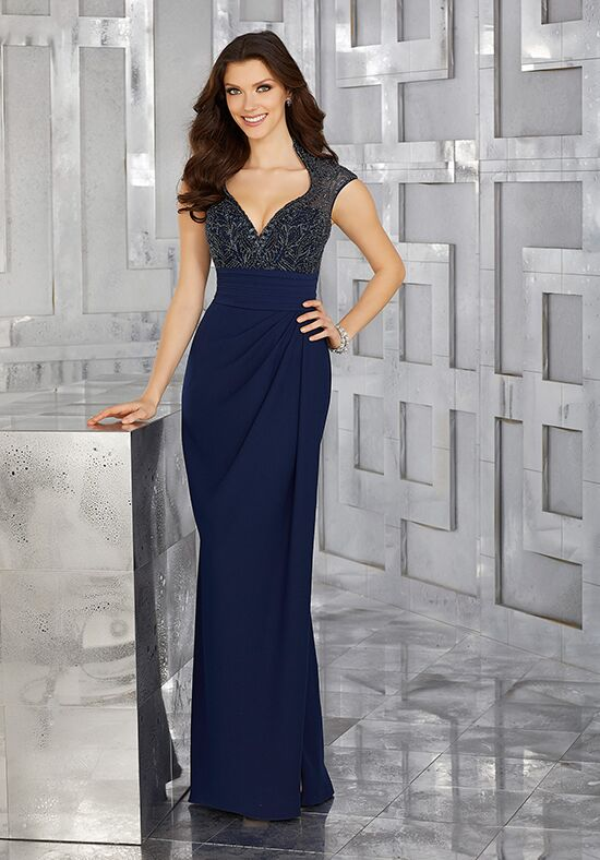 MGNY 71619 Blue Mother Of The Bride Dress
