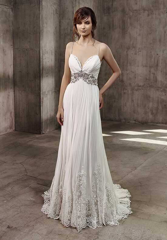 Badgley Mischka Belle Alana A-Line Wedding Dress