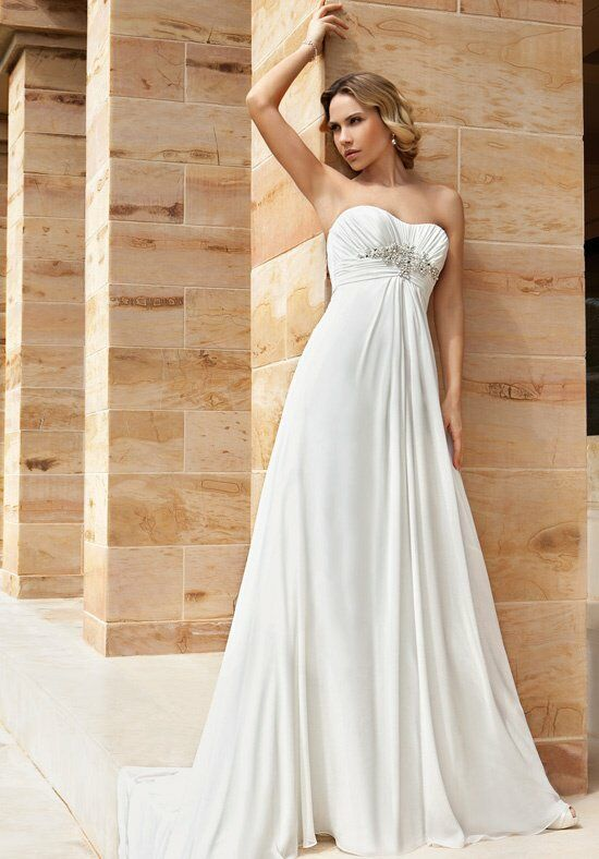 Demetrios DR186 A-Line Wedding Dress