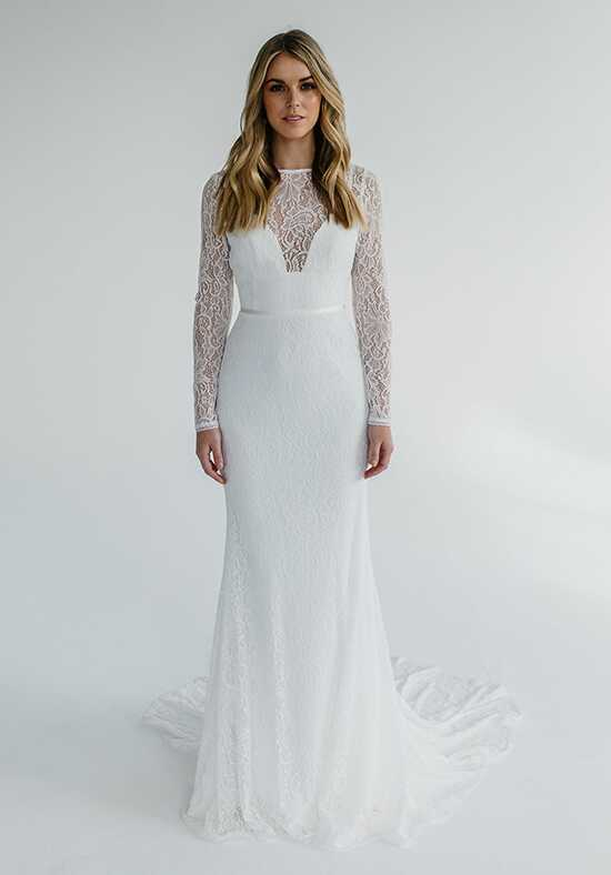 KAREN WILLIS HOLMES Karina Sheath Wedding Dress