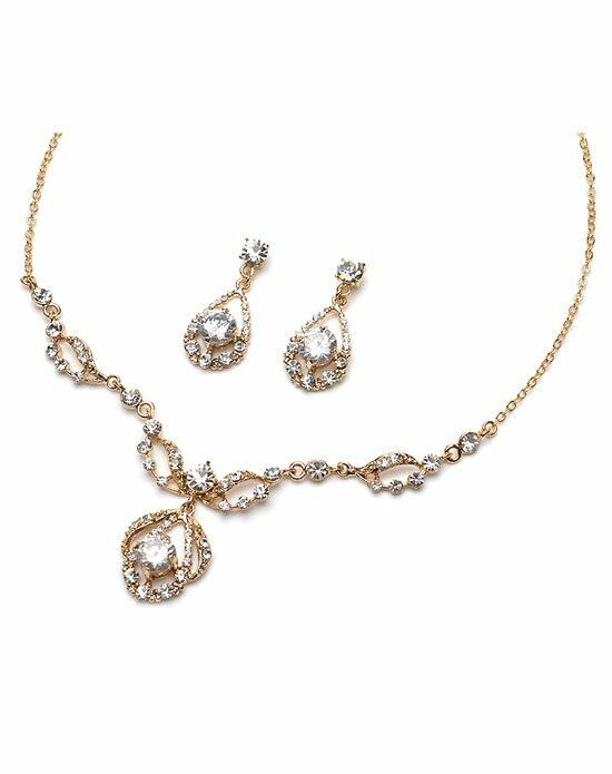 USABride Pure Sparkle Gold Jewelry Set JS-600-G Wedding Necklace photo