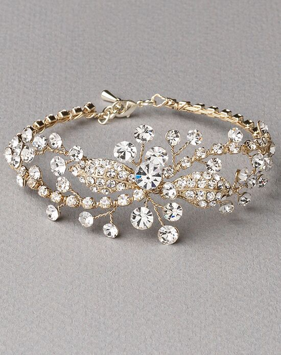 USABride Livy Floral Gold Bracelet JB-4839-G Wedding Bracelet photo