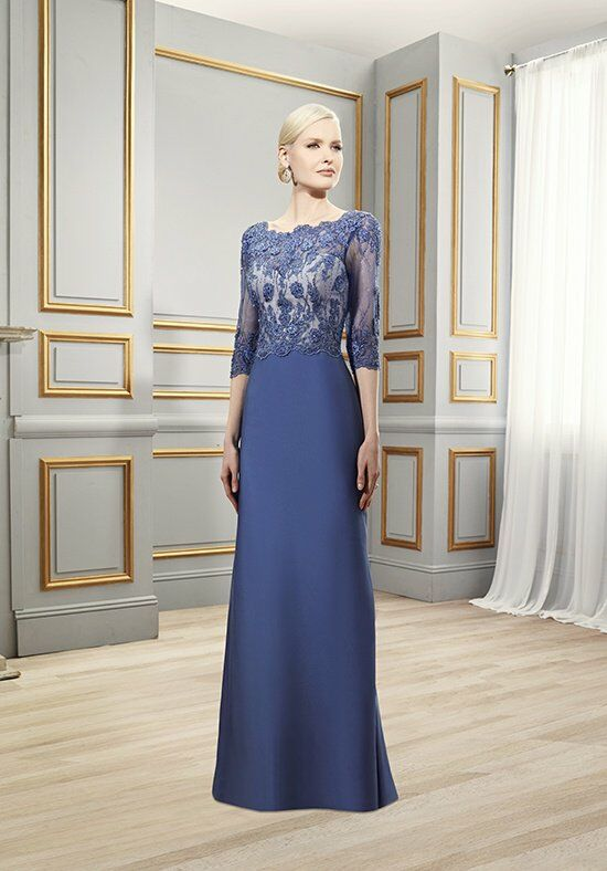 Val Stefani Celebrations MB7519 Blue Mother Of The Bride Dress