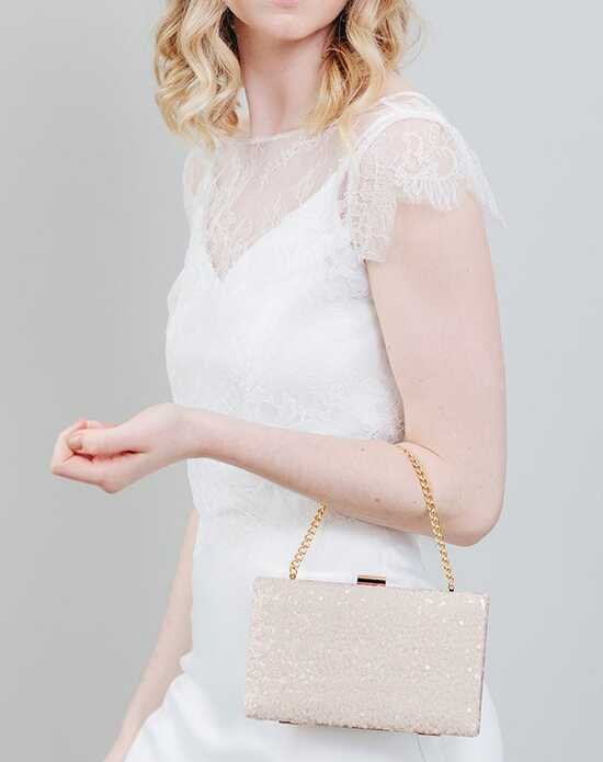 Davie & Chiyo | Clutch Collection Isla Box Clutch Gold, Pink Clutches + Handbag