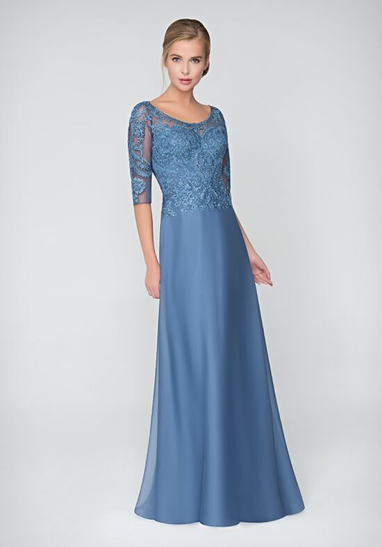 Val Stefani Celebrations MB7620 Blue Mother Of The Bride Dress