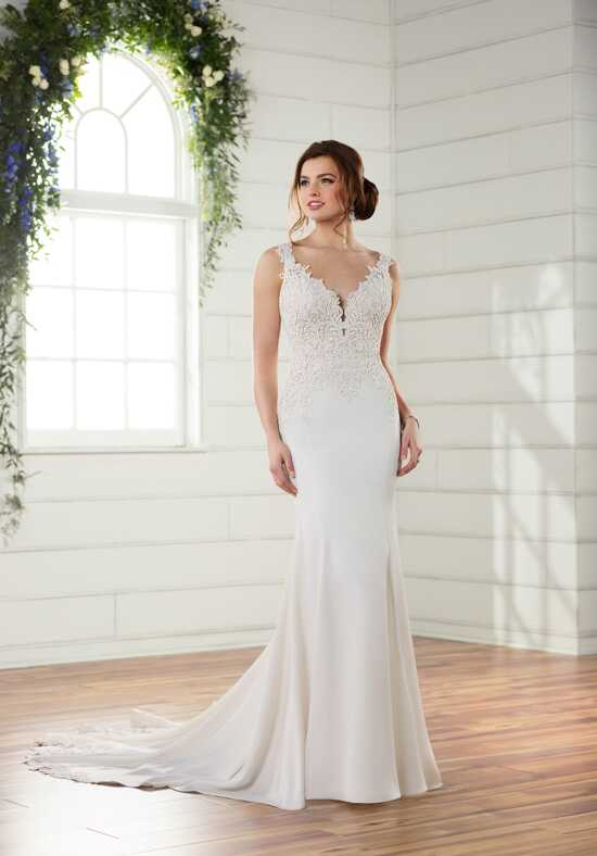 Essense of Australia D2332 Sheath Wedding Dress