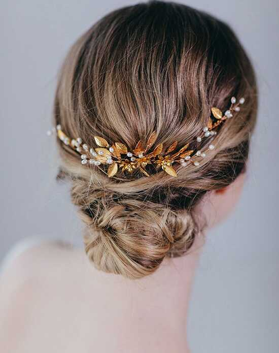 Davie & Chiyo | Hair Accessories & Veils Indra Headpiece Gold Headband