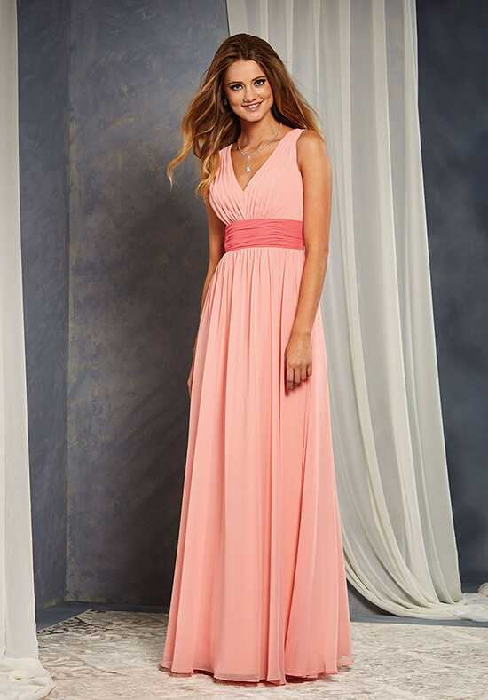 Alfred Angelo Signature Bridesmaids Collection 7375L V-Neck Bridesmaid Dress
