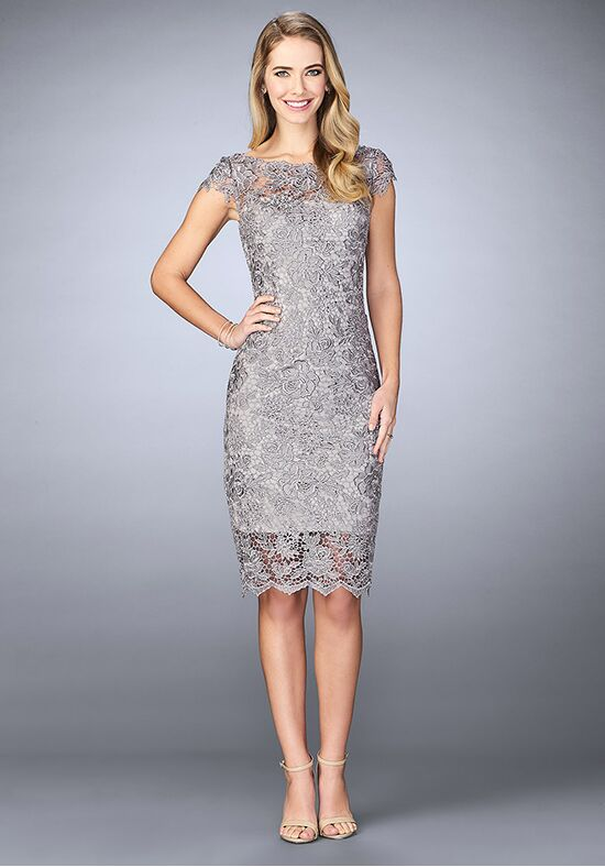 La Femme Evening 24861 Grey Mother Of The Bride Dress