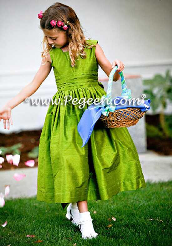 Pegeen.com 319 Black Flower Girl Dress