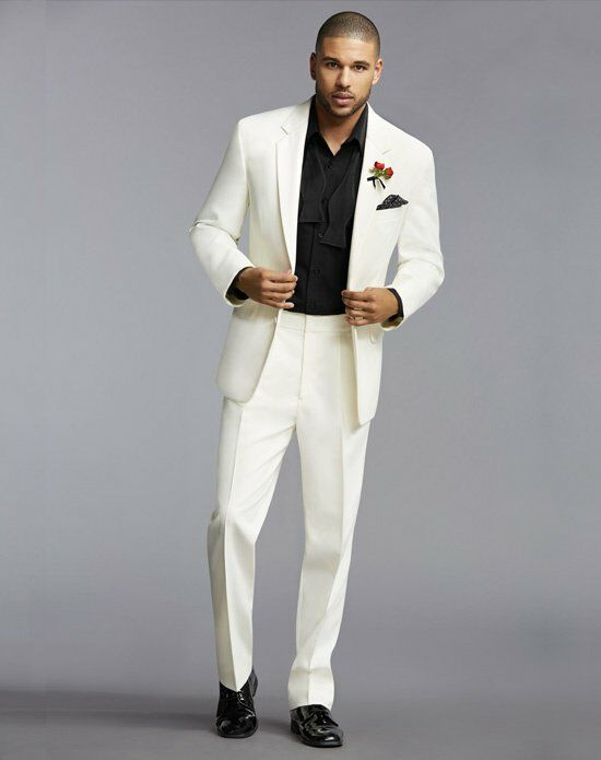 The Men\'s Wearhouse® Notch Lapel Ivory Tuxedo Wedding Tuxedo - The ...