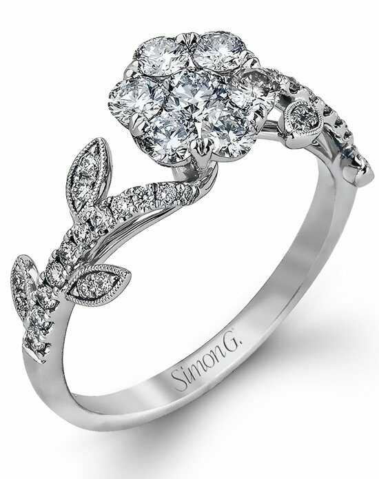 Simon G. Jewelry Cut Engagement Ring