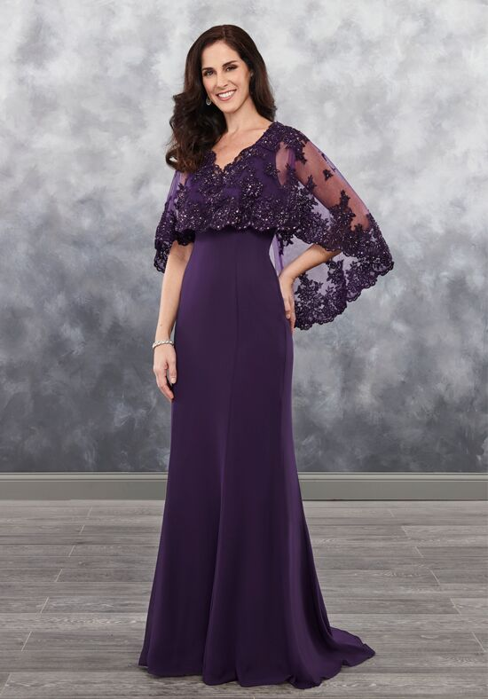 Beautiful Mothers by Mary's MB8027 Black Mother Of The Bride Dress