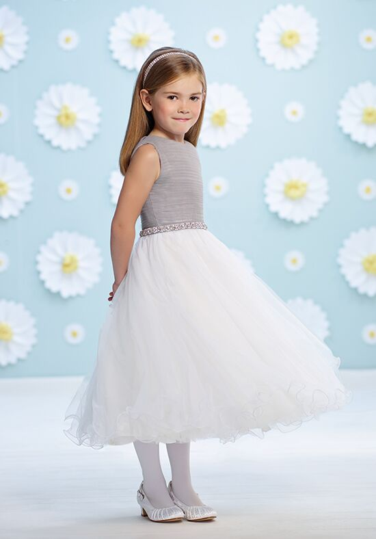 Joan Calabrese by Mon Cheri 116391 White Flower Girl Dress