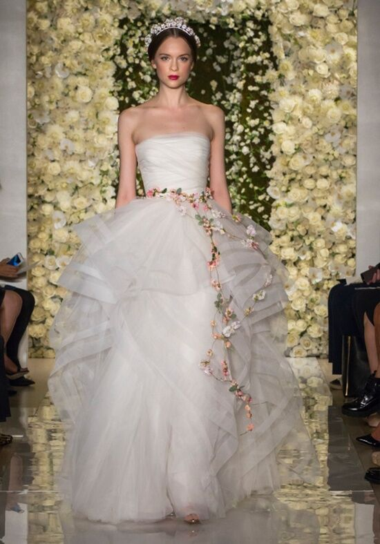 Reem Acra I'm Romantic Ball Gown Wedding Dress