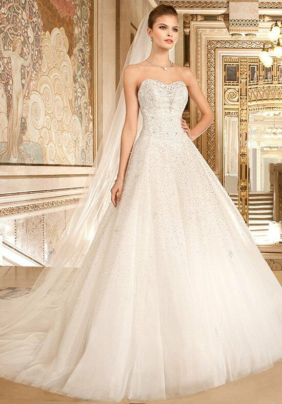 Demetrios 574 Ball Gown Wedding Dress