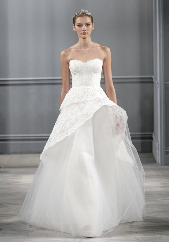 Monique Lhuillier Azure Ball Gown Wedding Dress