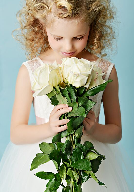 FATTIEPIE Jane -tea Ivory Flower Girl Dress