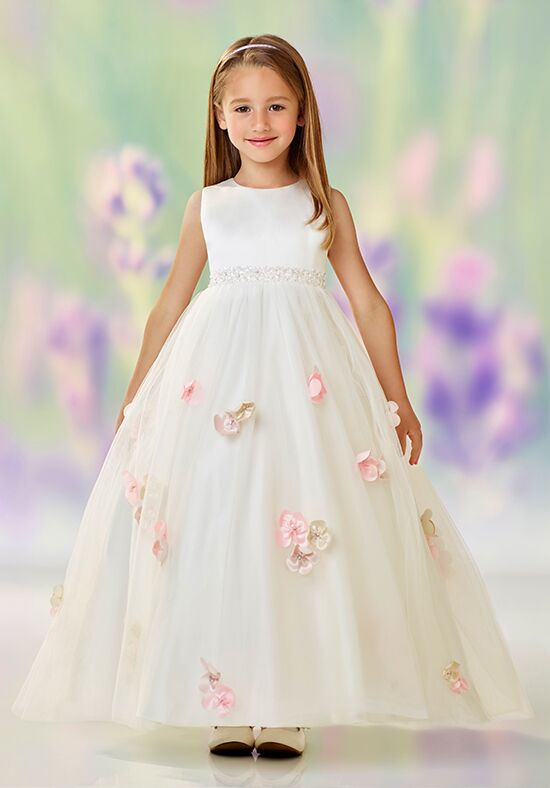 Joan Calabrese by Mon Cheri 118323 Ivory Flower Girl Dress
