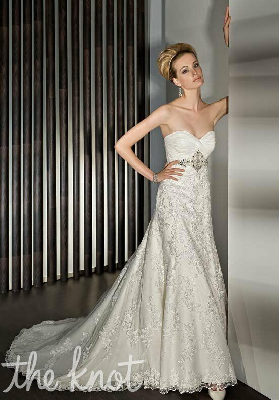 Demetrios 1430 Sheath Wedding Dress