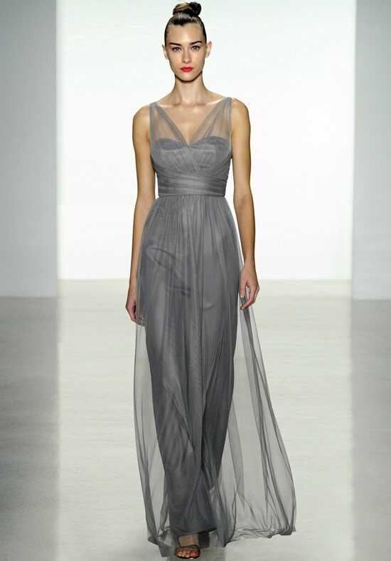 Amsale Bridesmaids G837U V-Neck Bridesmaid Dress