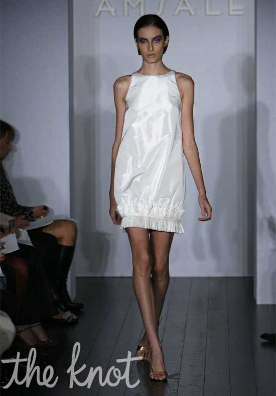 Amsale Presents Little White Dress L103 Vivi Sheath Wedding Dress